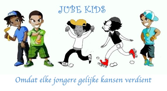 Jube kids met slogan